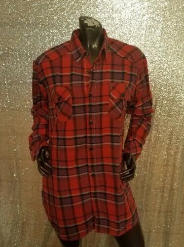 Flannel Plaid Shirt - Medium