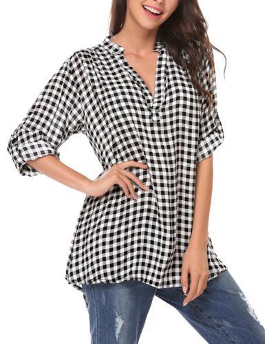 Zeagoo Long Flannel Check Shirts