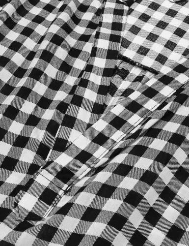 Zeagoo Women's Flannel Check Plaid Shirts