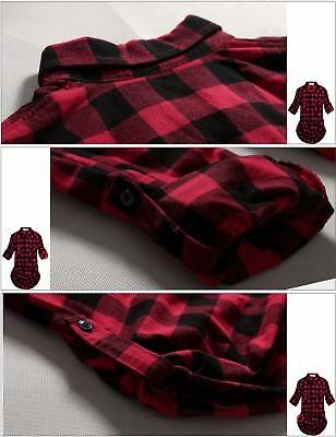 Match Women's Flannel Plaid Checks#1 Medium