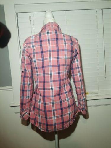 Ochenta Flannel Shirt Pink
