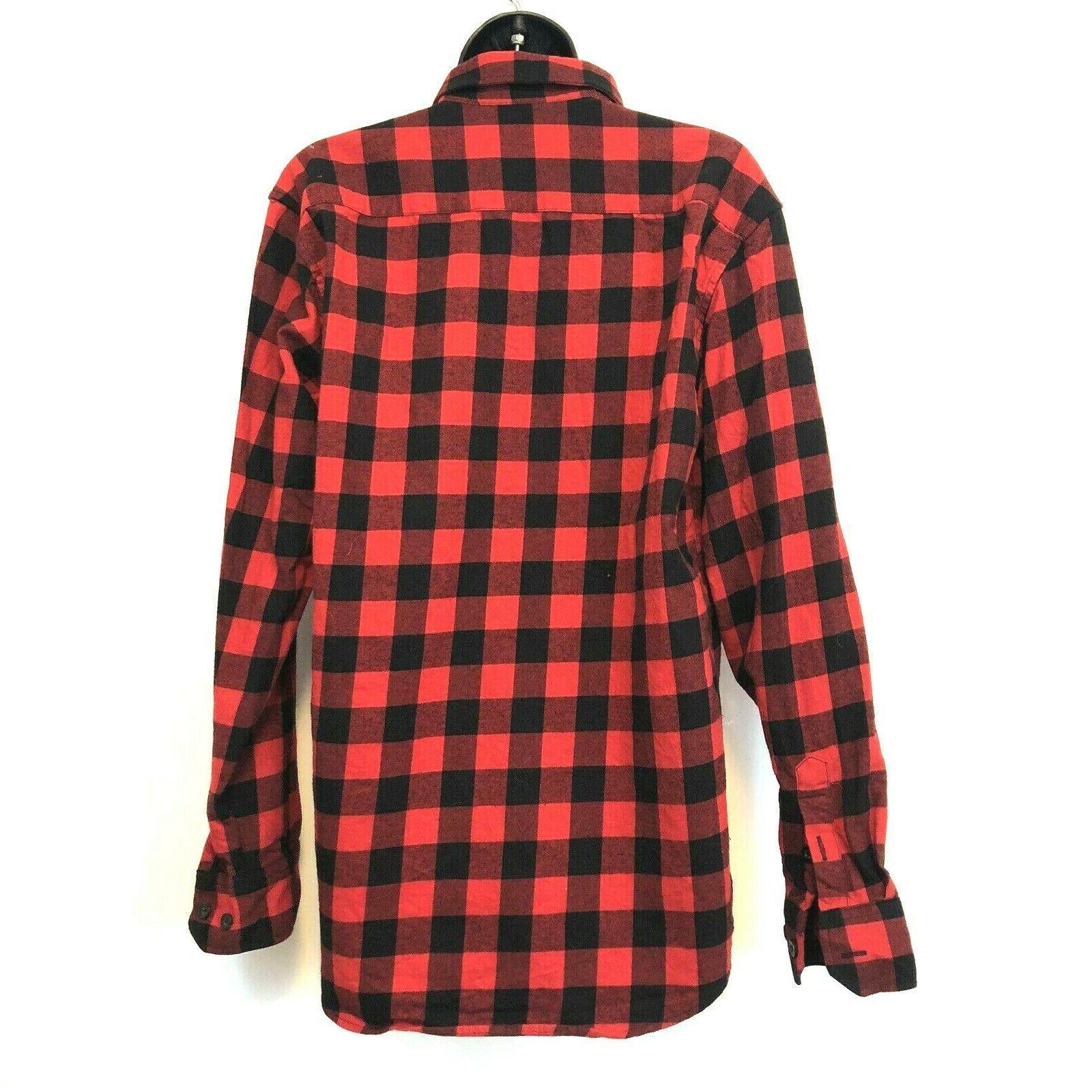 Ochenta Womens 2XL Buffalo Plaid Flannel Red Button