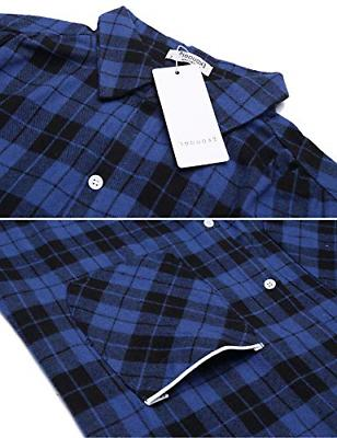 Ekouaer Womens Cotton Nightgown Button Down