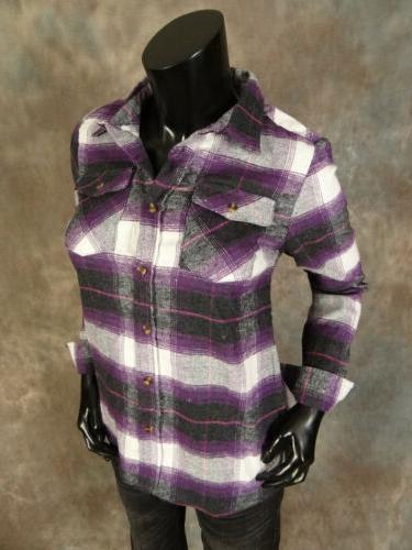 Womens FLANNEL Casual Button Colors