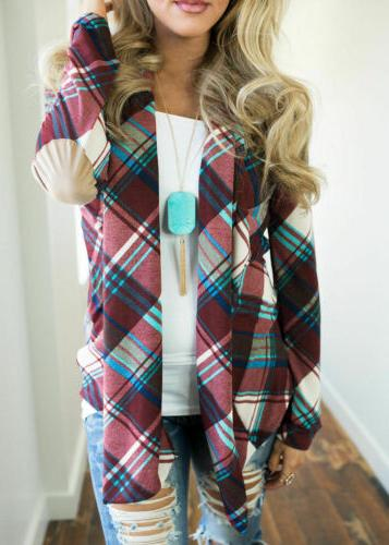 Womens Flannel Casual Jacket Loose Tops