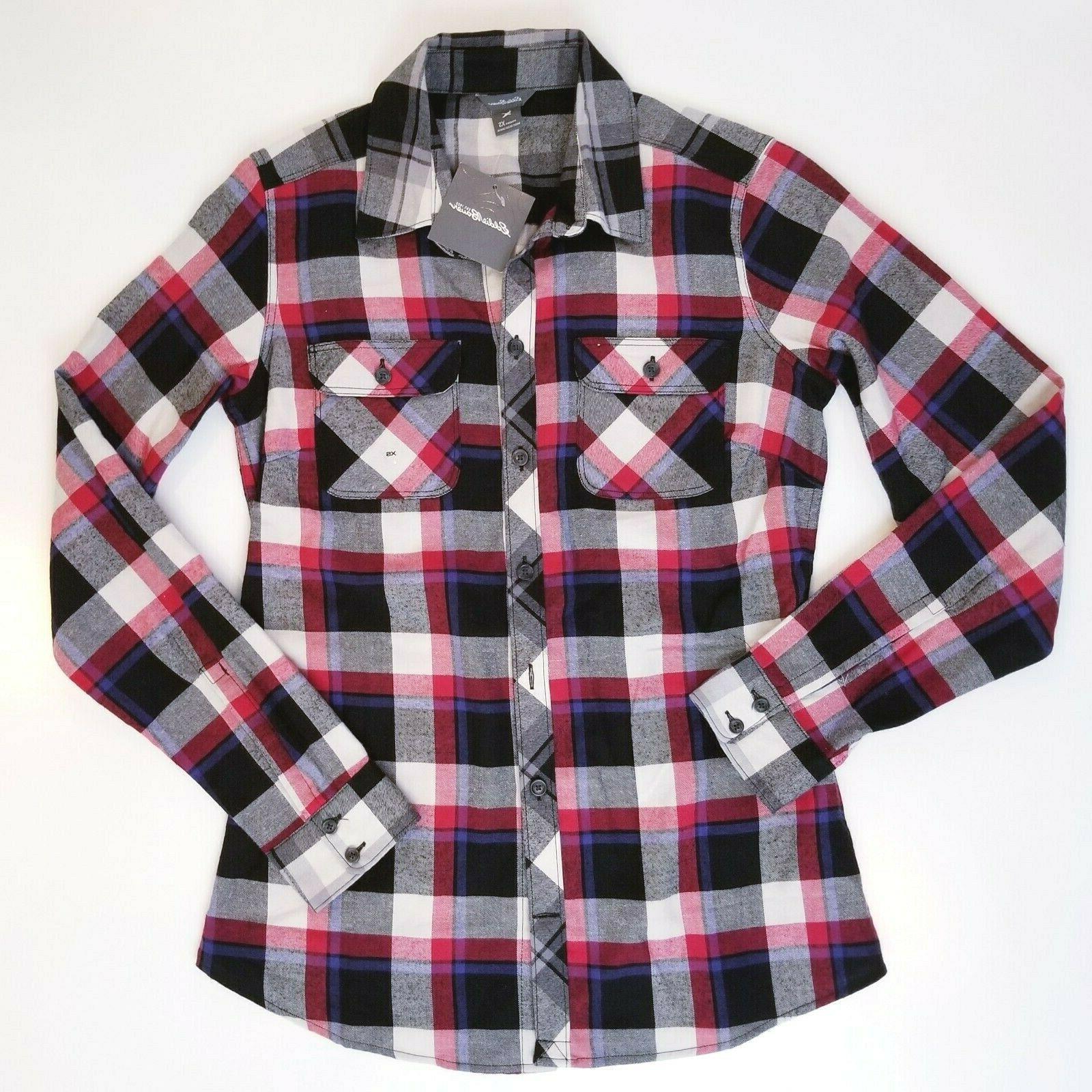 womens shirt stine s mixed plaid flannel