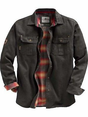 MEN`S FOUNDRY GRAY & BLACK PLAID FLANNEL SHIRT BIG & TALL SI