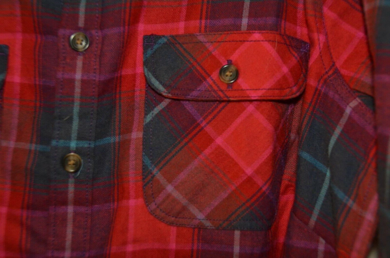Eddie Bauer Womens Flannel Shirt NWT