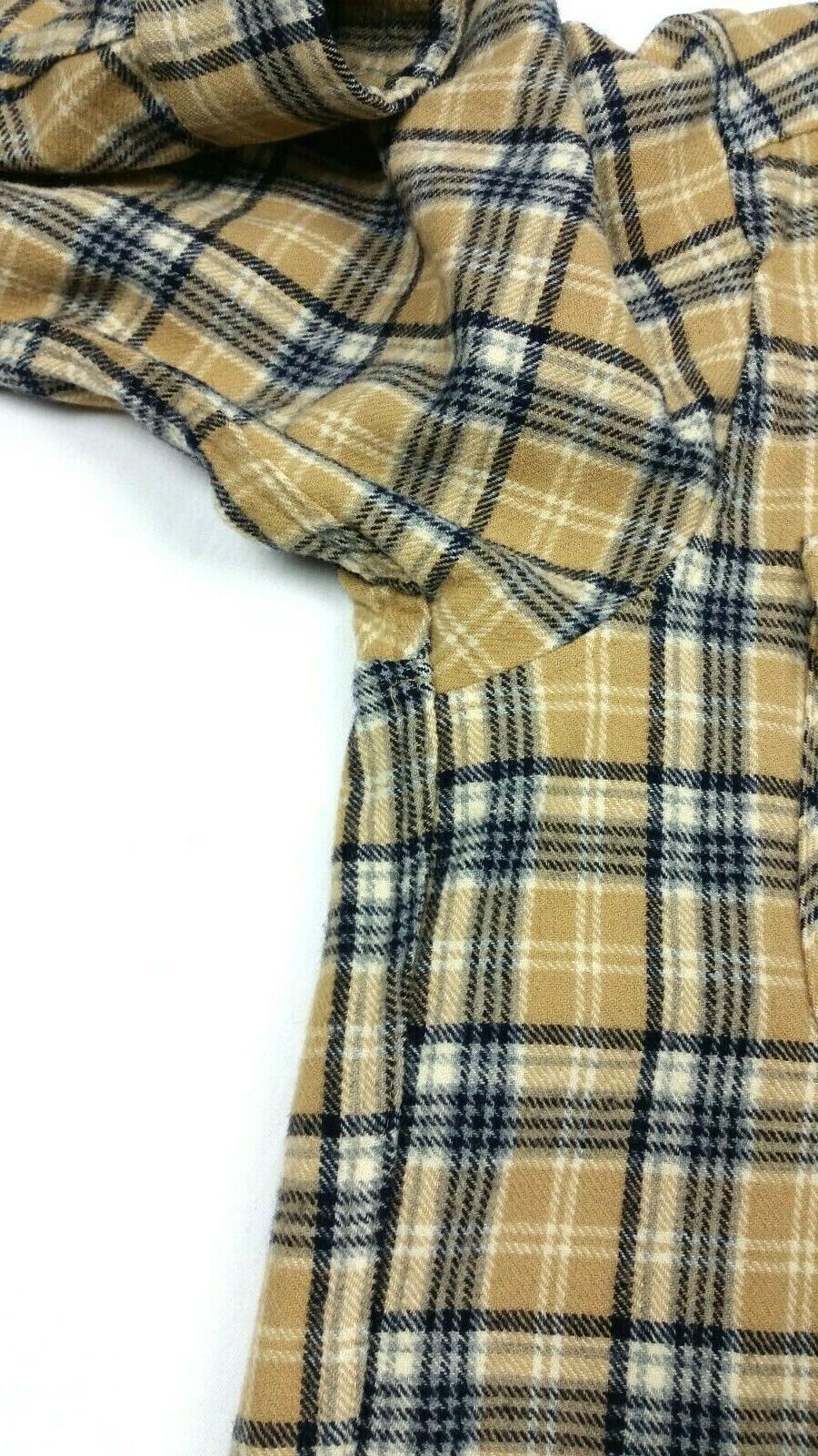 Pendleton Wool Plaid Flap Shirt FITS Medium