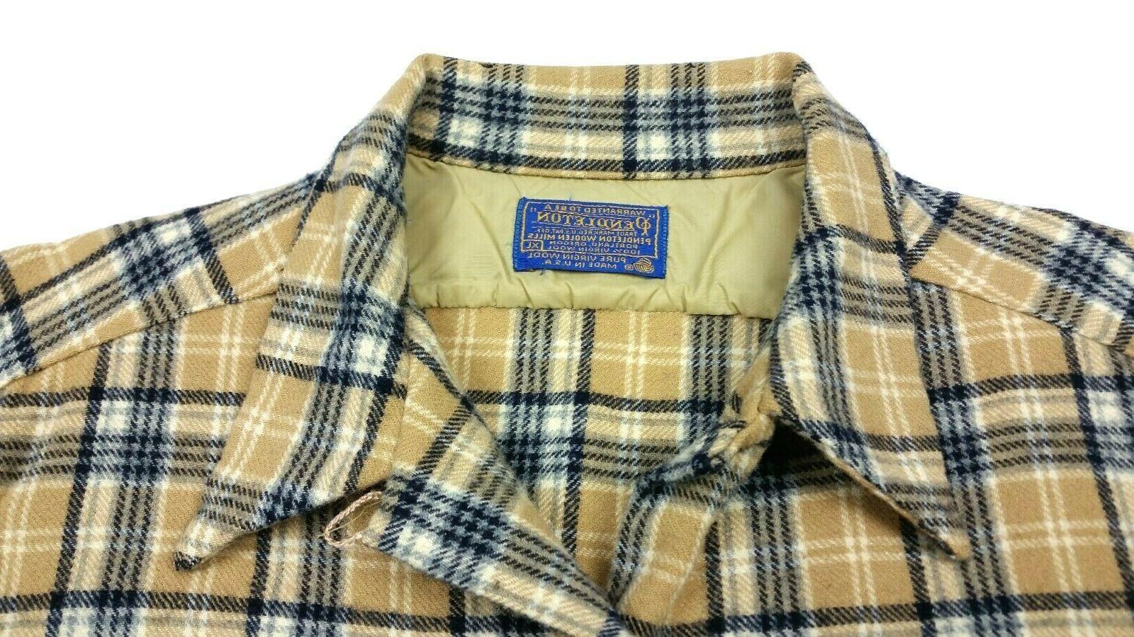 Pendleton Flannel Plaid Shirt FITS