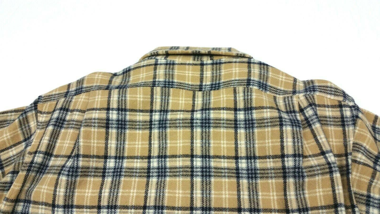 Pendleton Wool Flannel Plaid Loop Shirt FITS