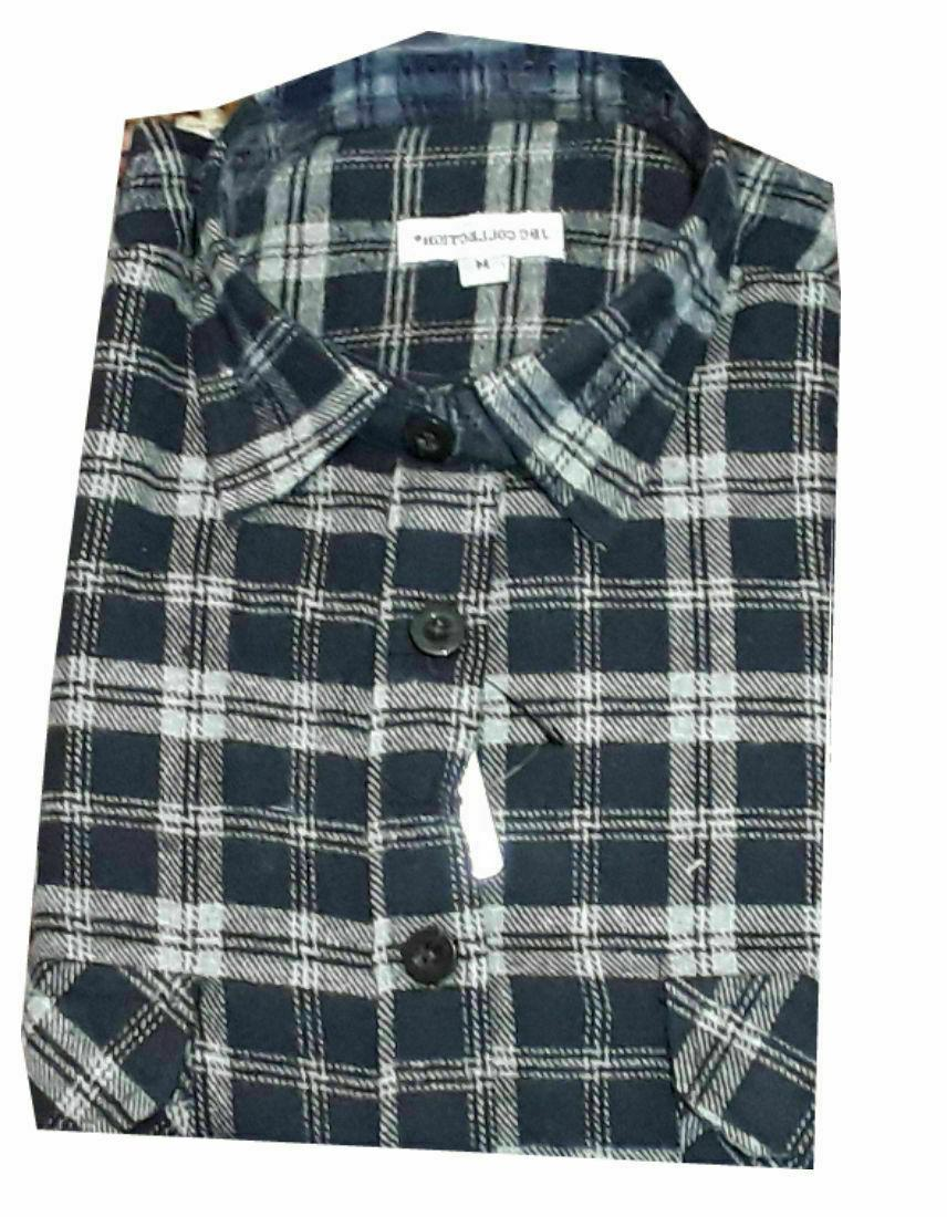 Work Cotton Shirt Flannel Lumberjack Gardening Walking Shirt