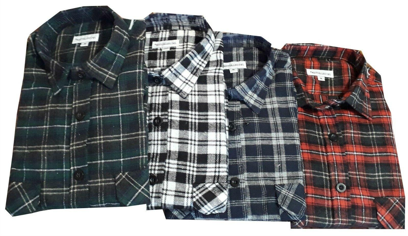 Work Casual Shirt Flannel Brush Check