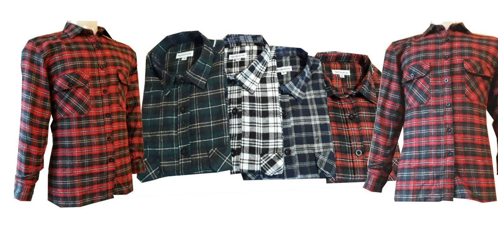 work casual shirt flannel brush cotton check