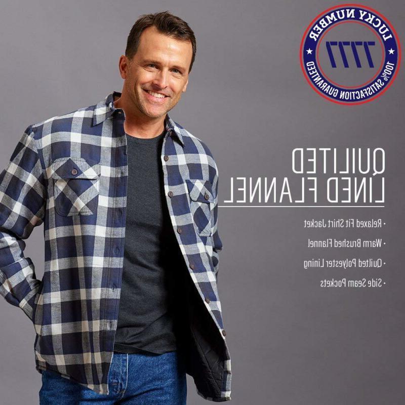 Wrangler Men'S Sleeve Quilted Flannel Shirt