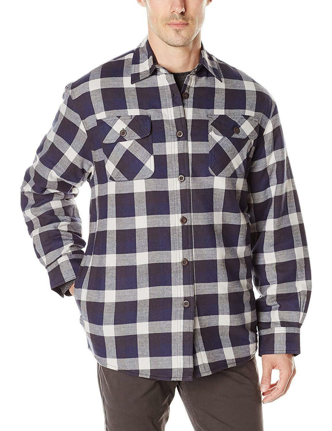 Wrangler Authentics Sleeve Lined Flannel Shirt