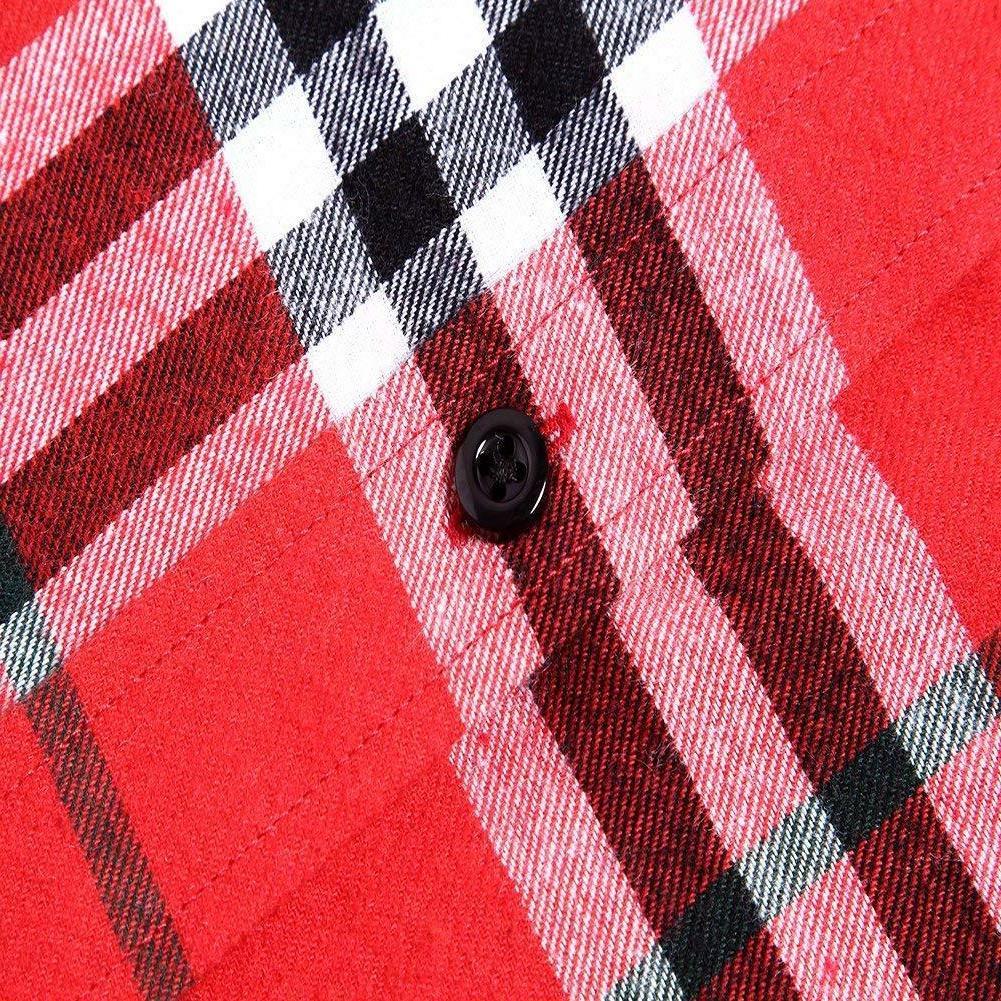 XI Men's Long Sleeve Flannel Shirt Thermal