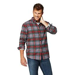 Lands' End Men's Traditional Fit Flagship Flannel Shirt, M,
