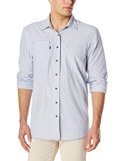 KAVU Men's Langston Shirt, Sky Blue, X-Small