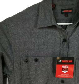 Wolverine Legend Motion Max Flannel Work Shirt Gray Size Med