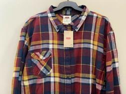Levi's Flannel Button Down Long Sleeve Shirt Size 3XL XXXL N