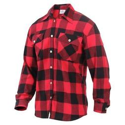 Rothco Lightweight Brushed Cotton Flannel Shirt, Red Plaid
