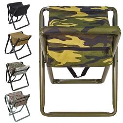 Lightweight Portable Stool with Pouch, Deluxe Camo Camping T