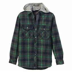 GIOBERTI - Little Boy's Flannel Shirt With Removable Hood -G