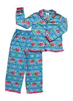 Alfa Global Little Girls' Flannel Printed Pajama Set 7444 Bl