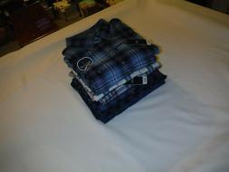 Long Sleeve Button front  Flannel Men;s Shirts IZOD - 2XL,CH