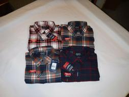 Long Sleeve Button front Soft Men's Flannel Shirts size XXL