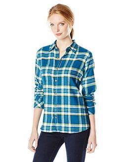 Dickies Women's Long-Sleeve Plaid Flannel Shirt, Southern Fa