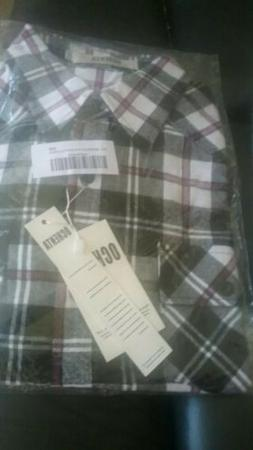 Ochenta Long Sleeve Flannel Shirt New in Package Plaid Size