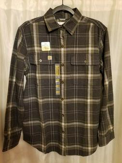 Carhartt Long Sleeve Hubbard Plaid Flannel Shirt Men's Small