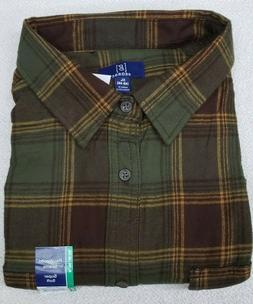 long sleeve plaid flannel shirt men s