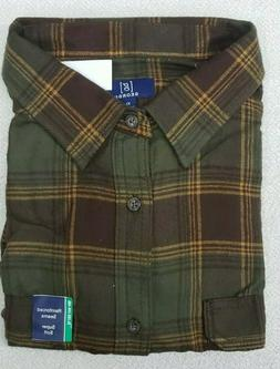 George Long Sleeve Plaid Flannel Shirt Men's Size XL  New Br