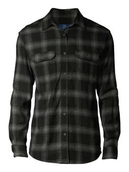 George Long Sleeve Plaid Flannel Shirt Men's Size Medium 38-