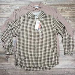 Lot Of 2 Mens Columbia Flannel Button Up Shirts Size Xl Fall