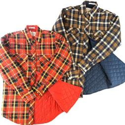 Lot Of 2 Vintage Quilted Lined Flannel Shirts Men's Size S