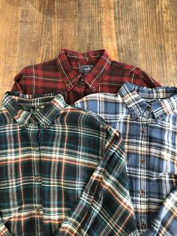 Lot of 3 Men's G.H. Bass Flannel Shirts NWOT/NWT, Unused!