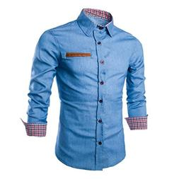 Vovotrade Luxury Mens Casual Stylish Slim Fit Long Sleeve Ca