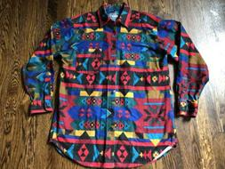 Woolrich, Made in USA, Southwestern Print Cotton Flannel, M