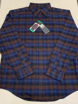 Pendleton Mason Flannel Shirt NEW w/ tags Mens XL Blue/Brown