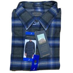 Pendleton Mason Flannel Shirt Plaid CHARCOAL/Plaid Mens NEW