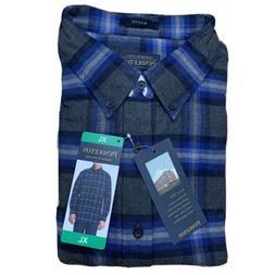mason flannel shirt plaid xl charcoal plaid