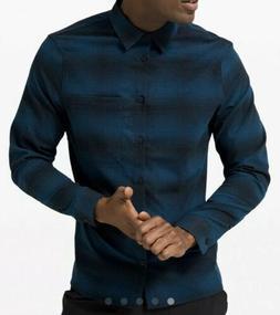 Lululemon Masons Peak Flannel Long Sleeved Shirt, Blue And B