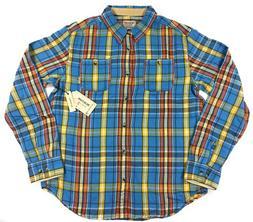 Burton MB Fairfax Woven Flannel Shirt Mens Blue Essex Plaid