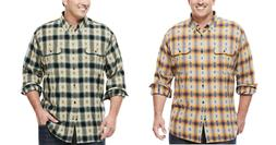 Foundry men Big Tall Flannel Work shirt LT 2XLT 3XLT 4XLT 2X