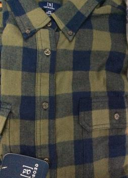 George Men Flannel Shirt  2XL NWT REINFORCED SEAMS