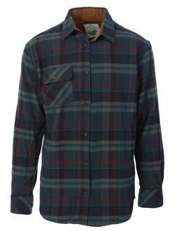 Men's 100% Cotton Brushed Flannel Plaid Checkered Shirt with